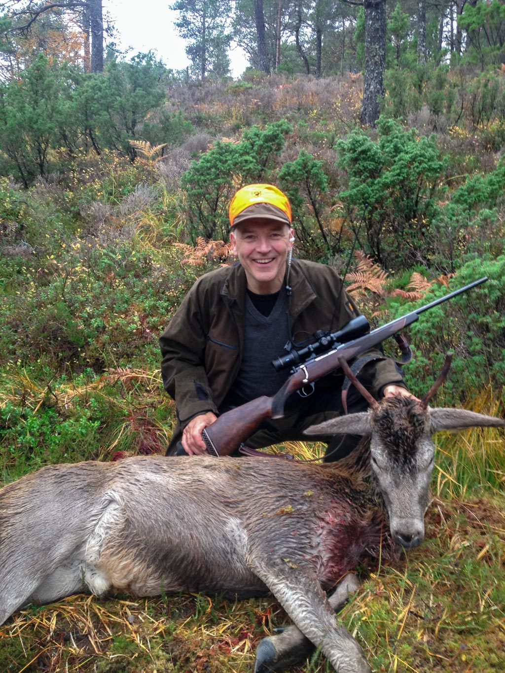Thomas and deer and his M77 DL, .308Win from Schultz & Larsen