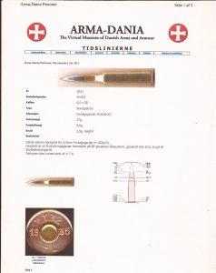 Schultz og Larsen Model 38, Arma Dania, 6,5x58RD