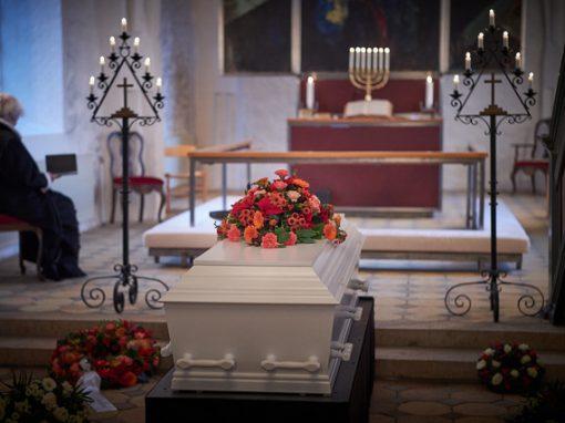 Foto fra Jørgen Christensens begravelse
